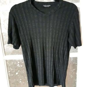 Le Chateau works black short sleeve tee shirt
